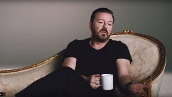 Ricky Gervais in der Optus-Werbung: «Ich brauche richtig viel Geld dafür und ich will keine Effort reinstecken müssen.»