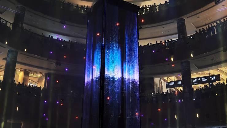So wird auch im Salipark: Lichtshow hier in der Dubai Mall.
