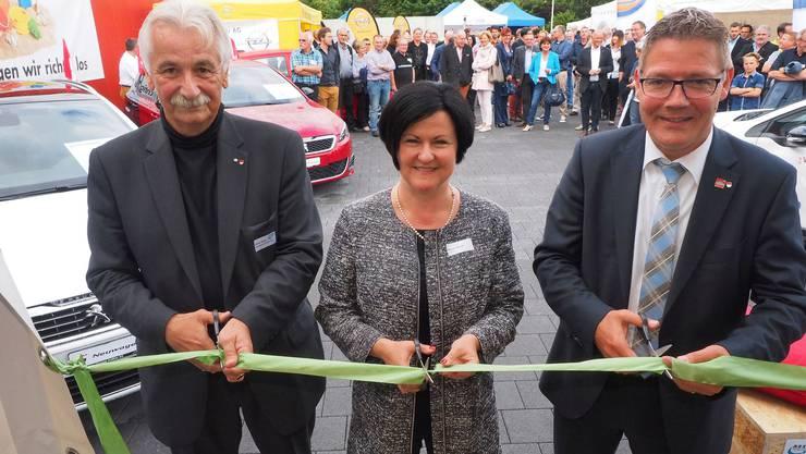 OK-Präsident Claude Belart (ganz links) bei der Eröffnung der Rexpo im Jahr 2016