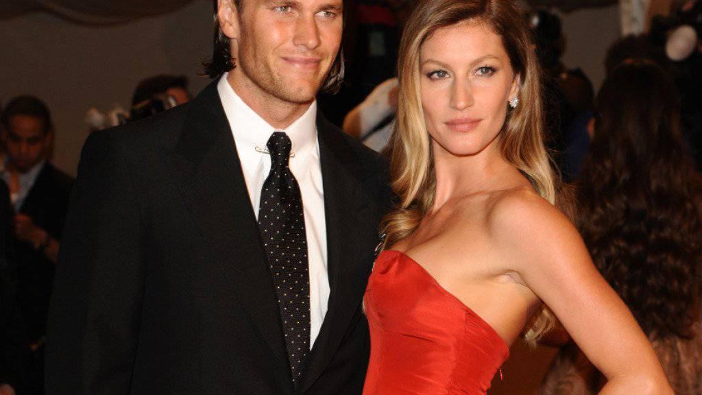 Fotomodel Gisele Bündchen mit Ehemann und Football-Spieler Tom Brady