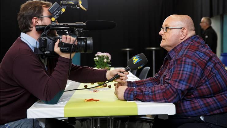 Cahannes im Interview mit Tele M1.