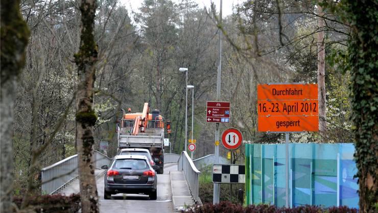 Der schmale Übergang zwischen Rupperswil und Auenstein ist bis nächsten Montag gesperrt. Toni Widmer