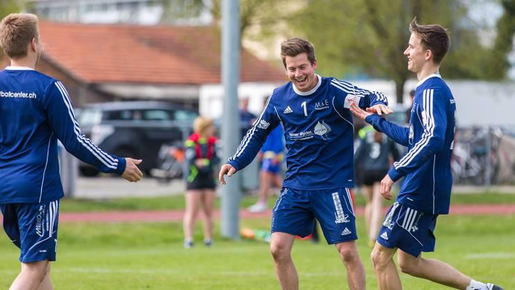 Die Männer des STV Oberentfelden hatten Grund zur Freude: Sie holten in der vierten NLA-Runde vier Punkte.