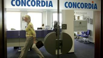 Die Krankenkasse Concordia schliesst die Tür für Firmenkunden - 40 Stellen gehen verloren. (Archivbild)