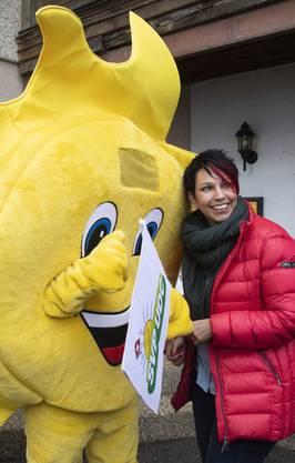 SVP-Nationalrätin Sandra Sollberger, Betreuerin der Wahlbotschafter.
