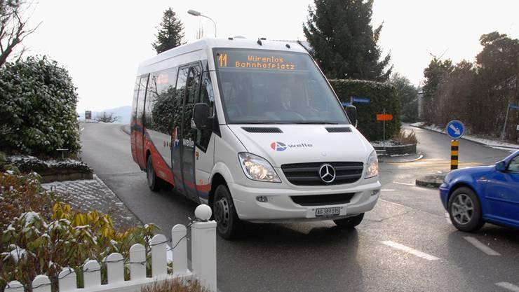 Seit August 2010 verkehrt der Ortsbus zwischen Würenlos und Killwangen.Archiv/AZ