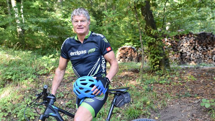 Der Grenchner Roland Schwiete ist mehrmals wöchentlich mit seinem Mountain Bike unterwegs.
