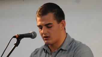 Andreas Döbeli an seiner Rede in Sarmenstorf.