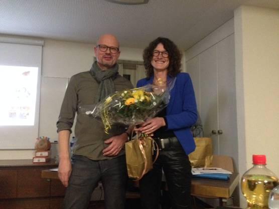 Daniela Lauber Bärlocher, die mit Workshops viel dazu beiträgt, dass der Verein für Kinder und Familien attraktiv ist, wurde vom Präsident Thomas Wohldmann verdankt.