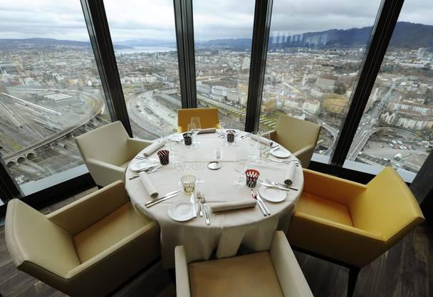 Blick vom Restaurant «Clouds» aus.