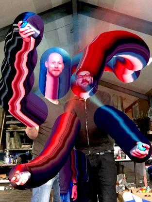 Die Luzerner Künstler Paul Lipp (links) und Reto Leuthold.