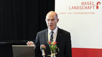 «Spare in der Zeit, so hast Du in der Not»: Der Baselbieter Finanzdirektor Anton Lauber präsentiert die Rechnung 2018. (Archiv)