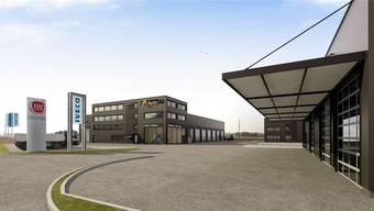 Das von der Auto AG Group erstellte Gewerbehaus. (Visualisierung)