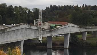 Garantiearbeiten an der Leporellobrücke
