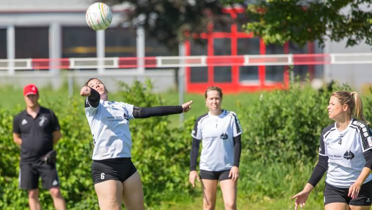 Captain Sabrina Siegenthaler kann mit ihrem Team vom STV Oberentfelden-Amsteg am Final4 befreit aufspielen.
