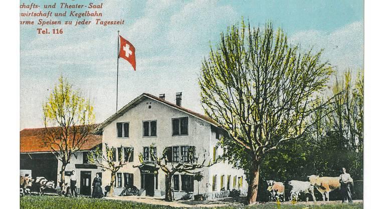 Der Beriker Mattenhof warb einst mit Gartenwirtschaft, Kegelbahn und Theatersaal. Die markante Wirtschaft mit Bauernhof ist 1928 abgebrannt.