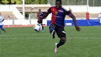 Neftali Manzambi ebnet der U21 des FC Basel mit seinen Toren den Weg zum Sieg