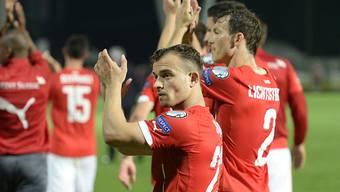 Xherdan Shaqiri nimmt mit seinen Schweizer Nationalmannschafts-Kollegen an der EM 2016 in Frankreich teil.