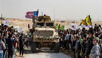 US-Militärfahrzeug in Syrien.Bild: AFP (Ras al-Ain, 7. Oktober 2019)