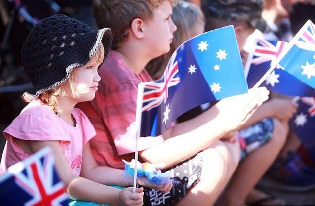 Schon als Kind wird den Australiern die Ehrfurcht vor den Veteranen eingeflösst.