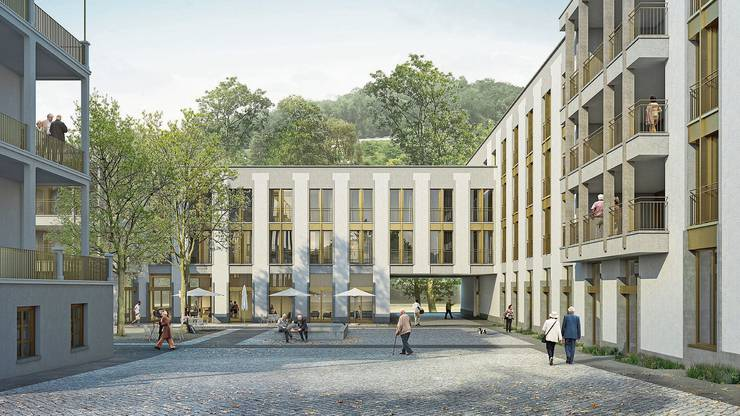 So könnte der Eingang des Regionalen Pflegezentrums Baden bald aussehen.