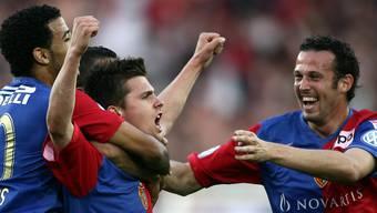 Streller und Stocker treffen gegen YB in der Finalissima. Der FCB wird Meister.