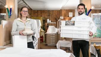 Manuela Schmid und Peter Schneider haben einen Take-away- und einen Lieferservice ins Angebot aufgenommen.