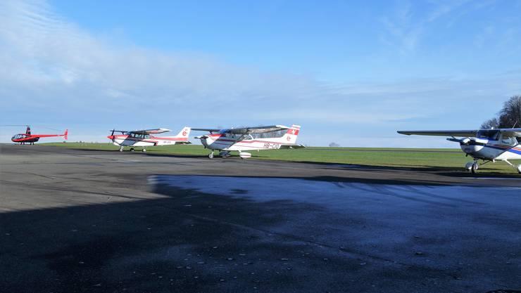 Der Flugplatz Buttwil besteht seit 1970.
