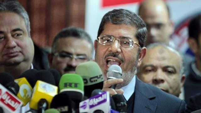 Muslimbrüder-Parteichef Mohammed Morsy hat die Wahlen gewonnen (Archiv)