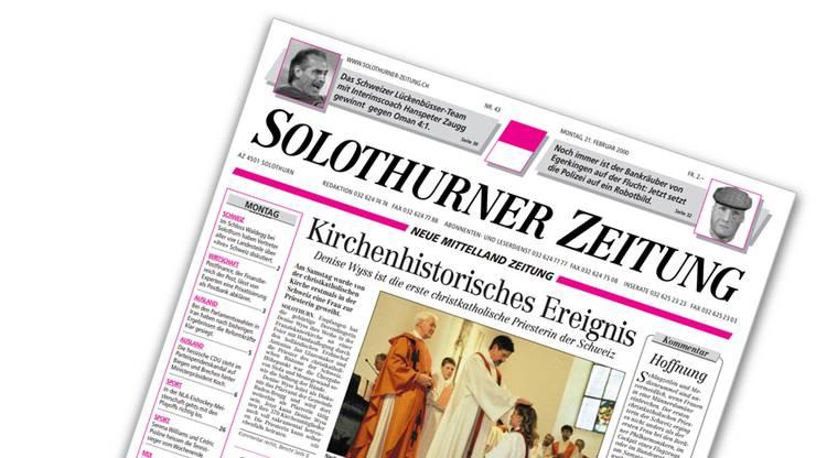 Die Schlagzeile in der Solothurner Zeitung im Februar 2000