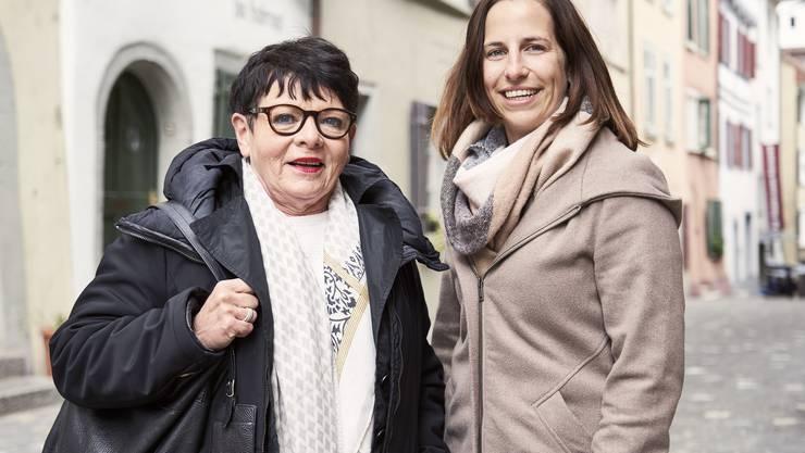 Ursula Dietrich und Jenny Sandmeier vom Quartierverein.