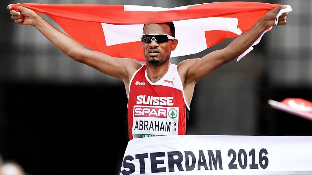 Tadesse Abraham bei seinem Halbmarathonsieg im Juli 2016 in Amsterdam