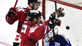 Stammgast in Davos: Alexandre Giroux feiert ein Tor für das Team Canada am letztjährigen Spengler-Cup