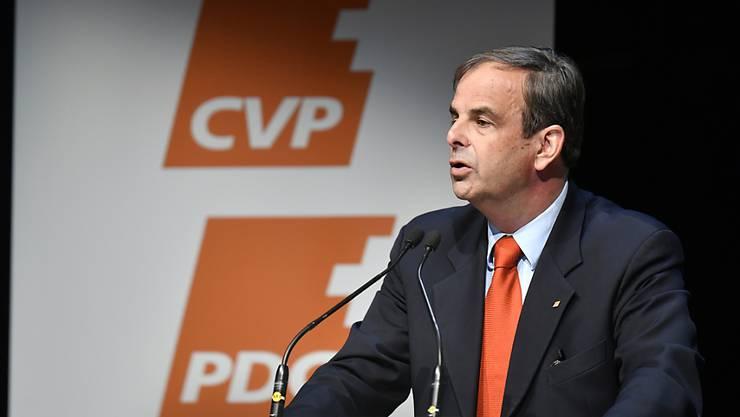 Will seine Partei am Samstag in Freiburg auf einen erfolgreichen Wahlkampf einschwören: CVP-Parteipräsident Gerhard Pfister. (Archivbild)