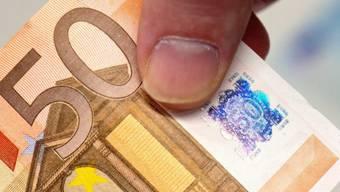 Eine in Deutschland konfiszierte 50-Euro-Blüte