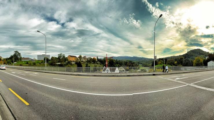 Die Badener Hochbrücke - aus der Sicht des az-Redaktors Samuel Schumacher, der selber an der Foto-Rallye mitmachte