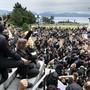 Hunderte demonstrierten am Sonntag auch in Lausanne gegen Rassismus, Diskriminierung und Polizeigewalt.