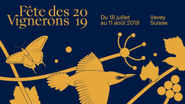Das Plakat zur «Fête des Vignerons 2019»