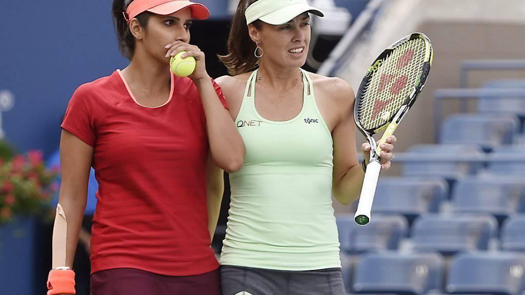 Martina Hingis (rechts) und Sania Mirza - unbestritten das beste Frauendoppel der Gegenwart
