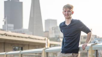 Jeremias Baur posiert in San Francisco: Das Silicon Valley hat seine Lust auf eine eigene Firma geweckt.