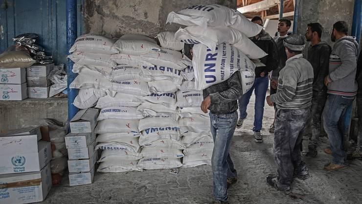 Das Hilfswerk unterstützt rund 270'000 Palästina-Flüchtlinge mit Nahrungsmitteln. (Archivbild)