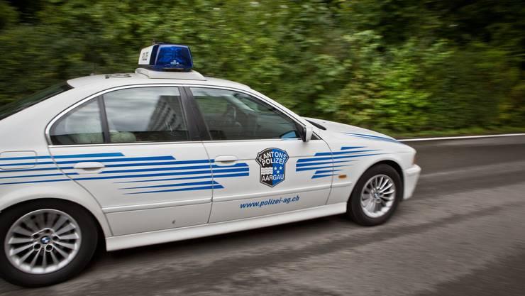 Auto der Kantonspolizei Aargau im Einsatz. (Symbolbild)