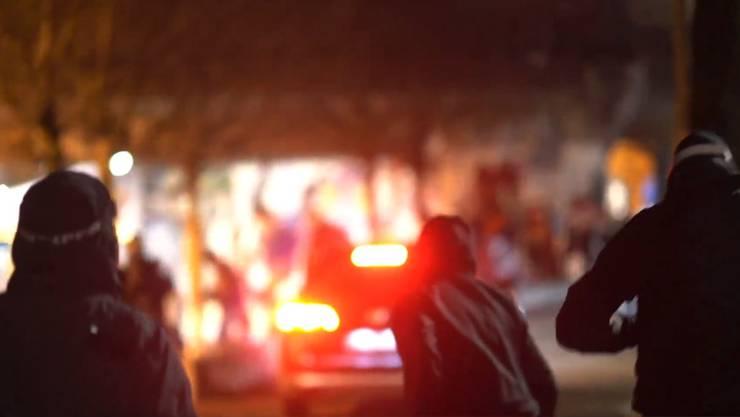 Videoaufnahmen zeigen den gestrigen Vorfall.