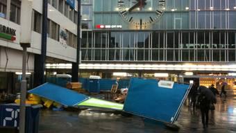 Ein Sturm zieht über die Schweiz und richtet grosse Schäden an