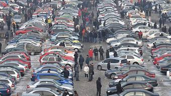 Autoabsatz in China um über die Hälfte gesteigert