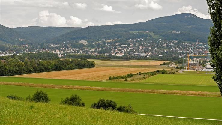 Geht es nach den Baselbieter Schwingern, wird der Schwingerkönig 2022 hier zwischen Reinach (links) und Aesch (rechts) gekürt.