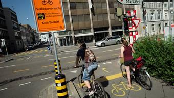 Der Verkehrsversuch wird vielleicht bald definitiv eingeführt.
