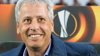 Lacht er bald in Dortmund? Das Interesse von Borussia Dortmund an Trainer Lucien Favre verdichtet sich