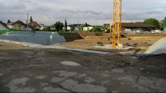 Die zurzeit grösste Baustelle in Biberist: An der Solothurnstrasse wird verdichtet und bis zu 16,5 Meter hoch gebaut.