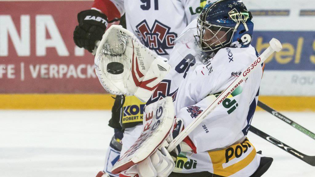 Stark beschäftigt und fünfmal bezwungen: Biels Goalie Lukas Meili